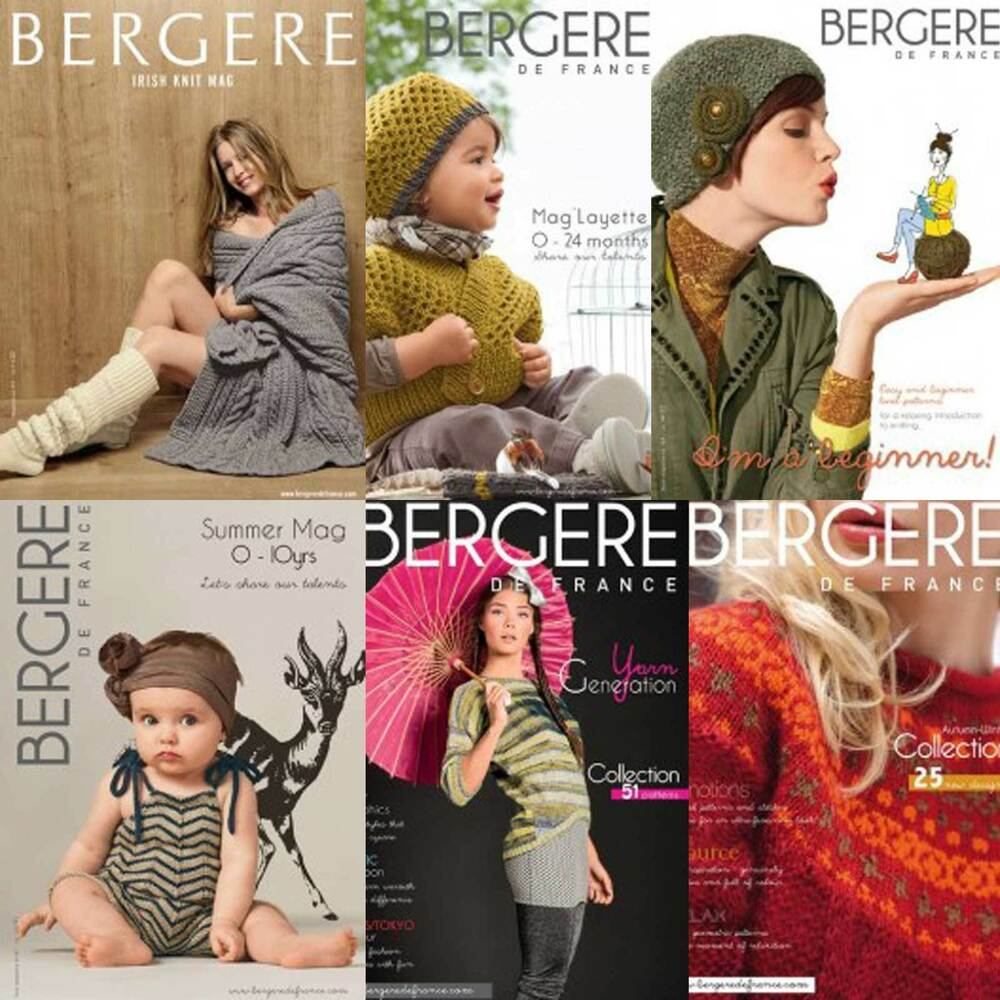 Knitting Magazines List : Bergere de france knitting pattern magazines various ebay