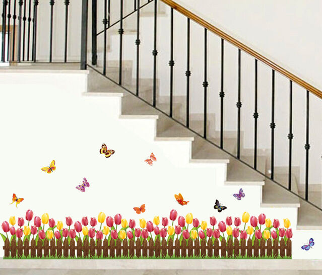 tulip border wall stickers - photo #14