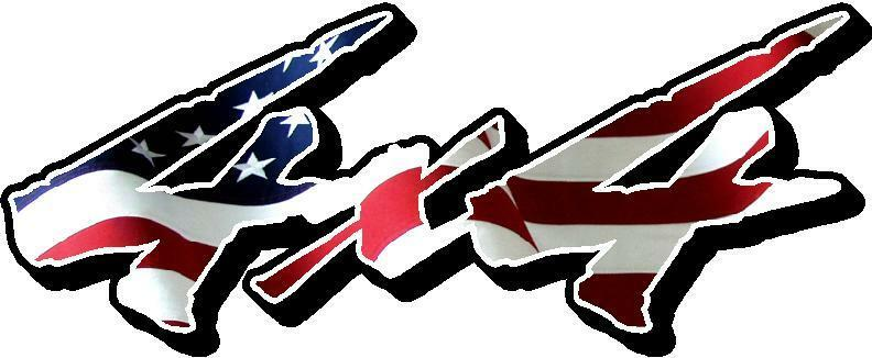 4x4 Decals American Flag Chevy Dodge Ford Toyota