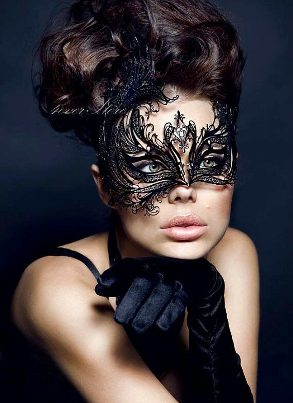 Best Seller - Classic Black Handcrafted Masquerade Mask Personalized | EBay
