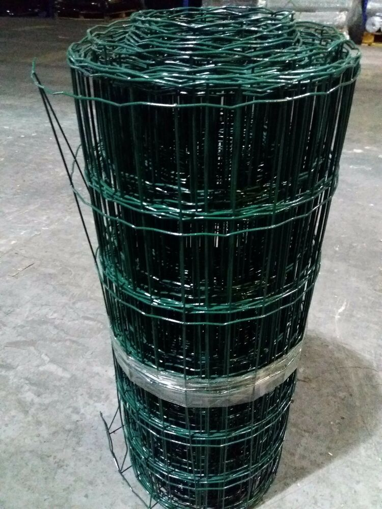 New PVC Coated Garden Border Wire Mesh Fence 600mm 900mm 1200mm X 10m 2