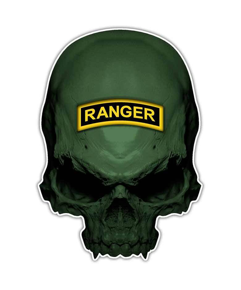 2 Ranger Skull Decal - Special Forces Skull Sticker ...