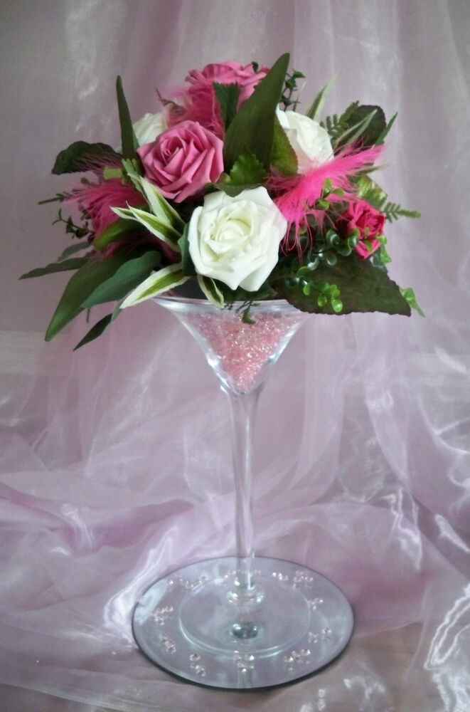 For hire martini glass vase centrepiece wedding party for Decoration vase martini
