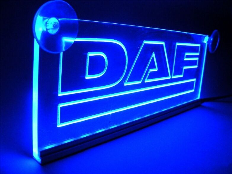24v led cabin interior light plate for daf truck neon illuminating table sign ebay for Interior neon lights for trucks