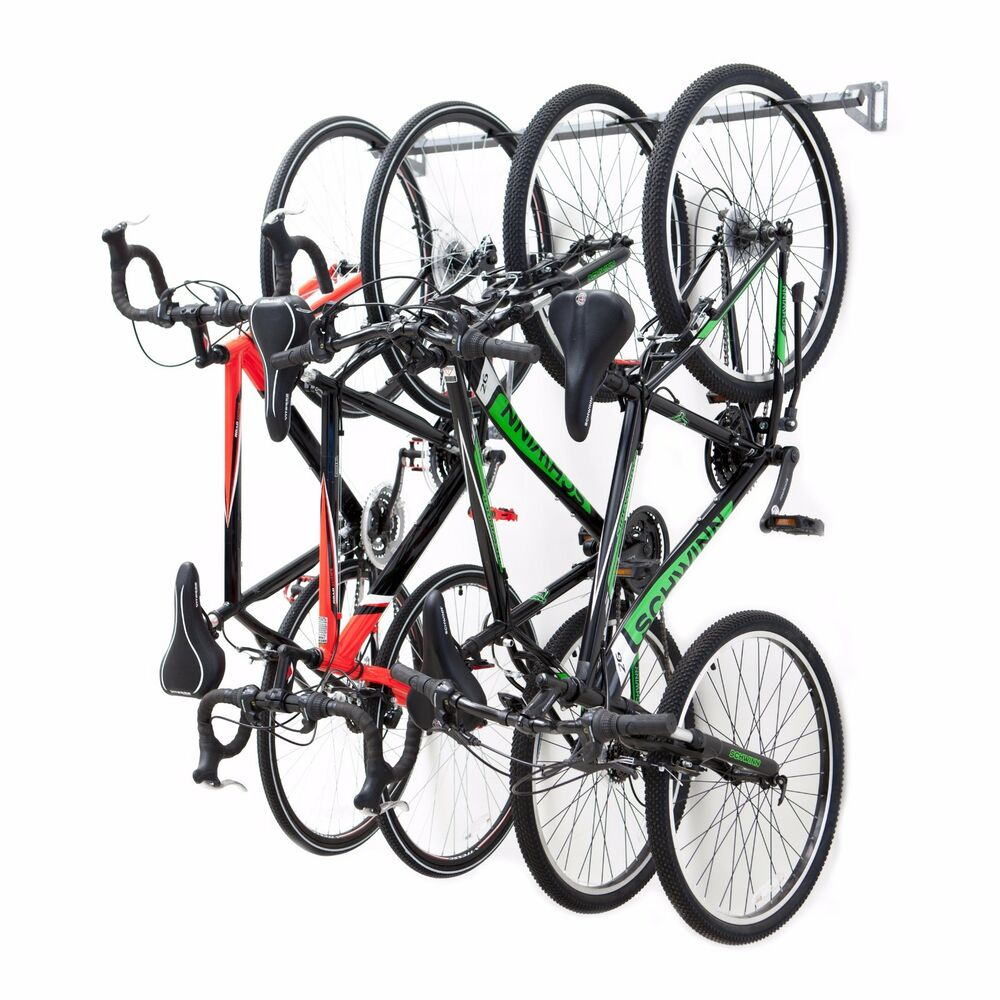 monkey bar storage 4 bike rack wall mounted storage solution 636409796901 ebay. Black Bedroom Furniture Sets. Home Design Ideas