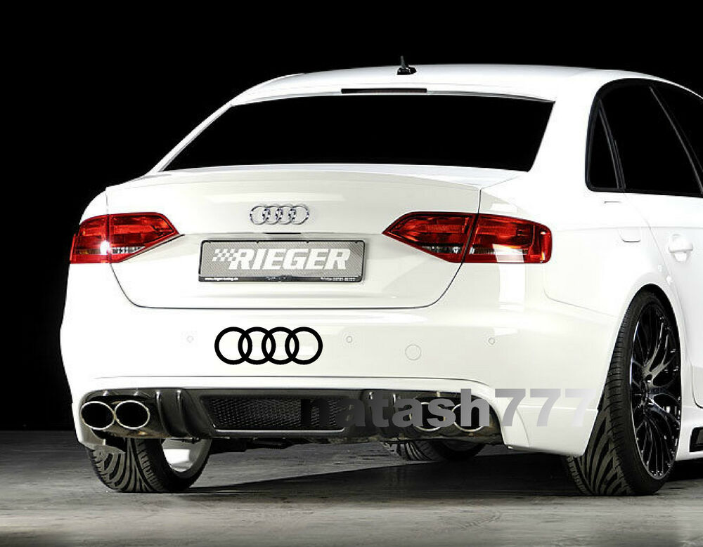 Audi Rings A4 A6 A8 Rs3 Rs4 Q5 S Line Racing Decal