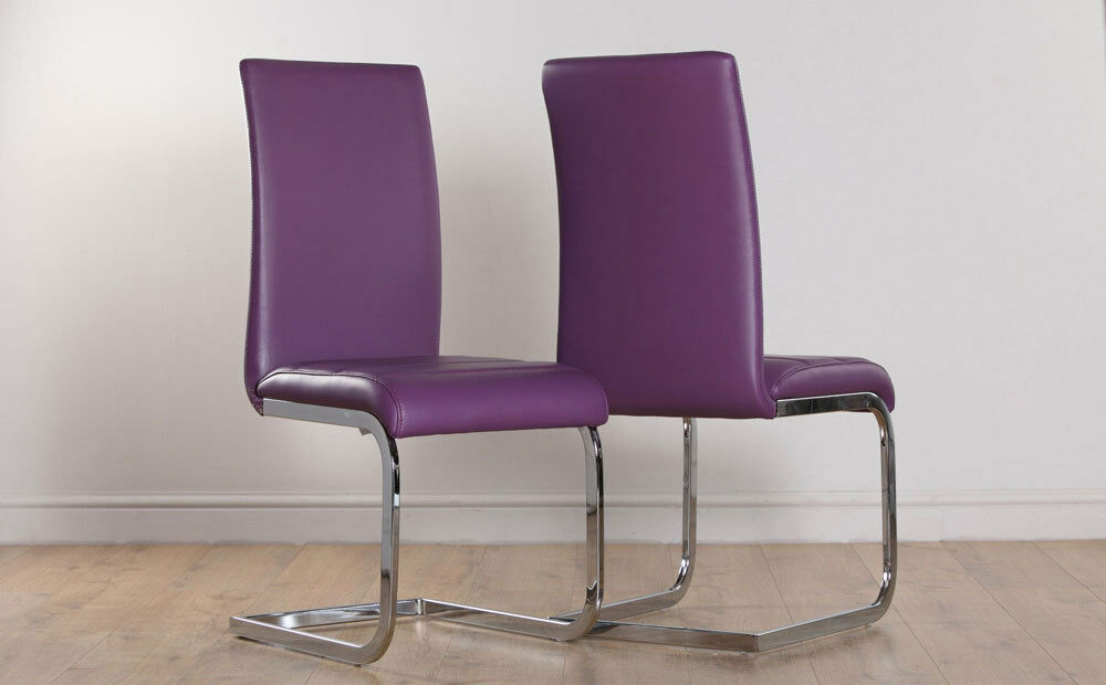 2 4 6 8 perth purple leather dining room chairs ebay for 4 dining room chairs ebay