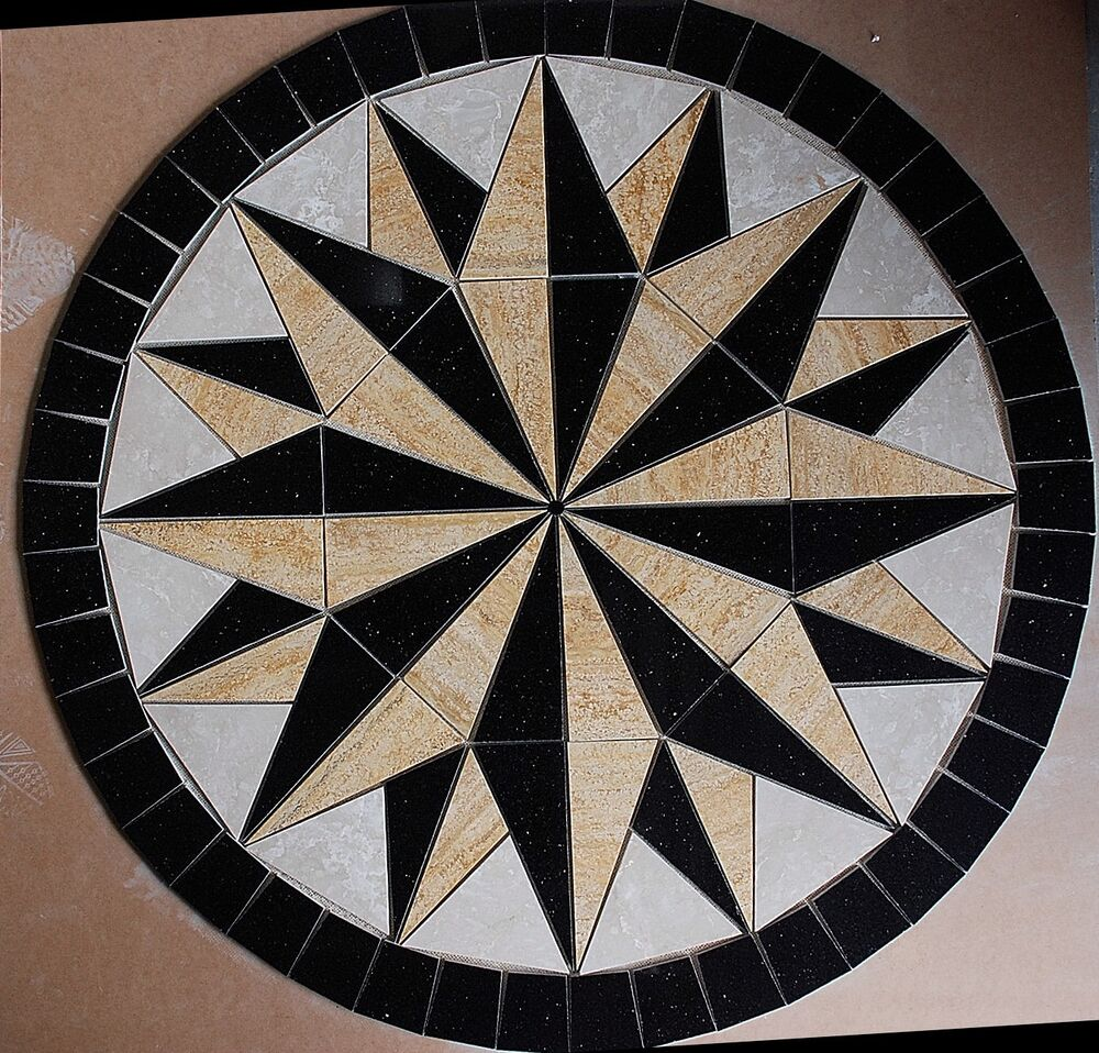 Marble Travertine Tile Medallion Design Stone 32 4d EBay