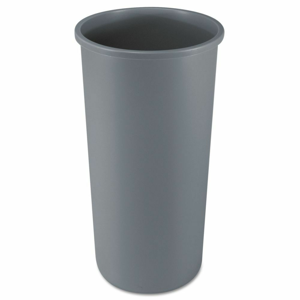 rubbermaid untouchable round 22 gallon trash can rcp354600gy ebay. Black Bedroom Furniture Sets. Home Design Ideas