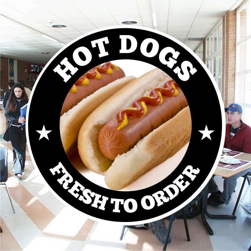 Hot Dogs Catering Sign Window Restaurant Stickers Graphics
