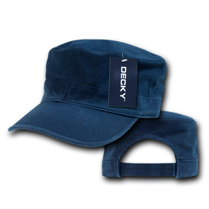 17fd0d95cf7 Details about NAVY BLUE Washed Cotton GI MILITARY ARMY CADET HAT Patrol  Fatigue BDU Castro Cap