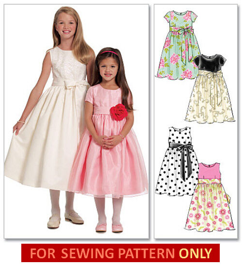 Sewing Pattern Make Fancy Dress Flower Girl 1st Communion