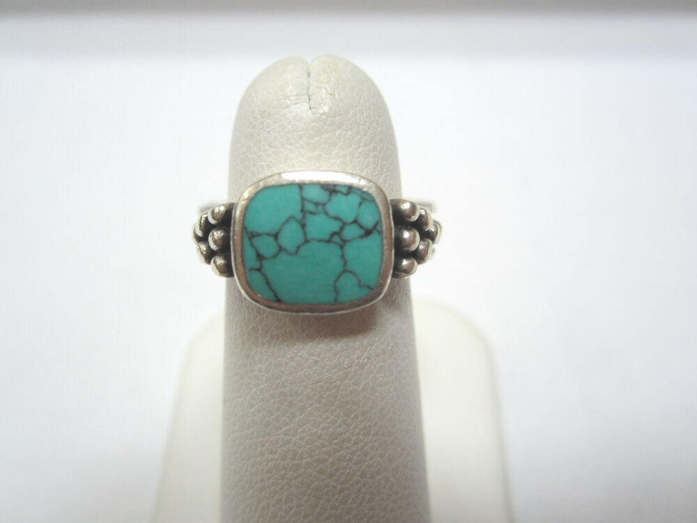 sterling silver turquoise colored gemstone ring ebay