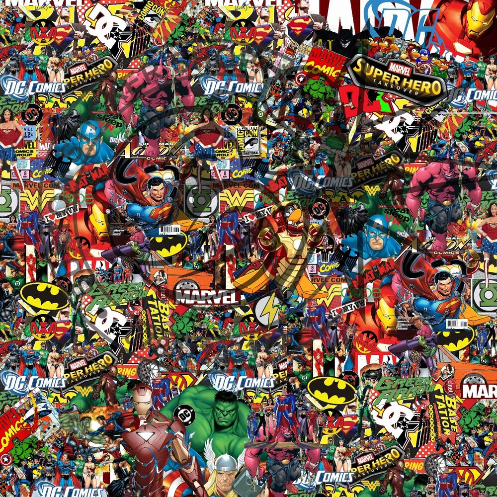Details about marvel dc comics sticker bomb sheet vinyl decal honda dub 2 x 500mm by 500mm