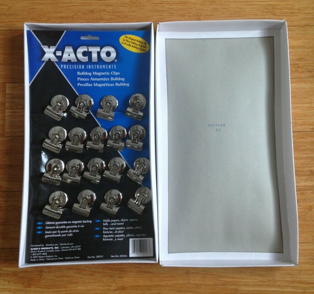 X-ACTO Bulldog Magnetic Clips Display 2026 18 Count Chip ...