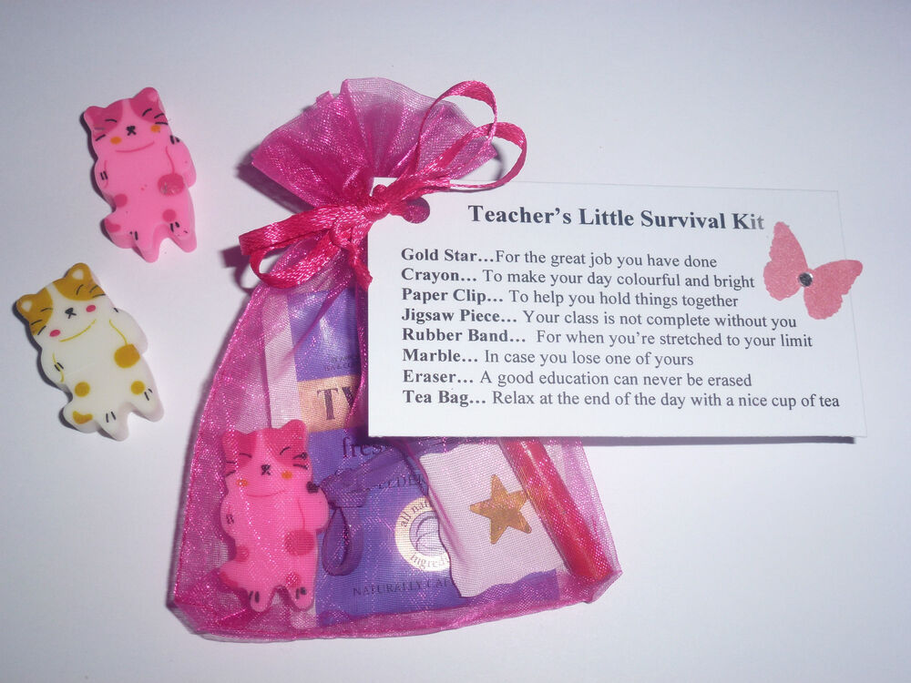 Teacher Survival Kit Gift Nursery Teaching Assistant keepsake ...