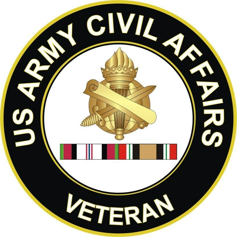 Army Civil Affairs Afghanistan And Iraq Veteran 5 5 Decal Sticker