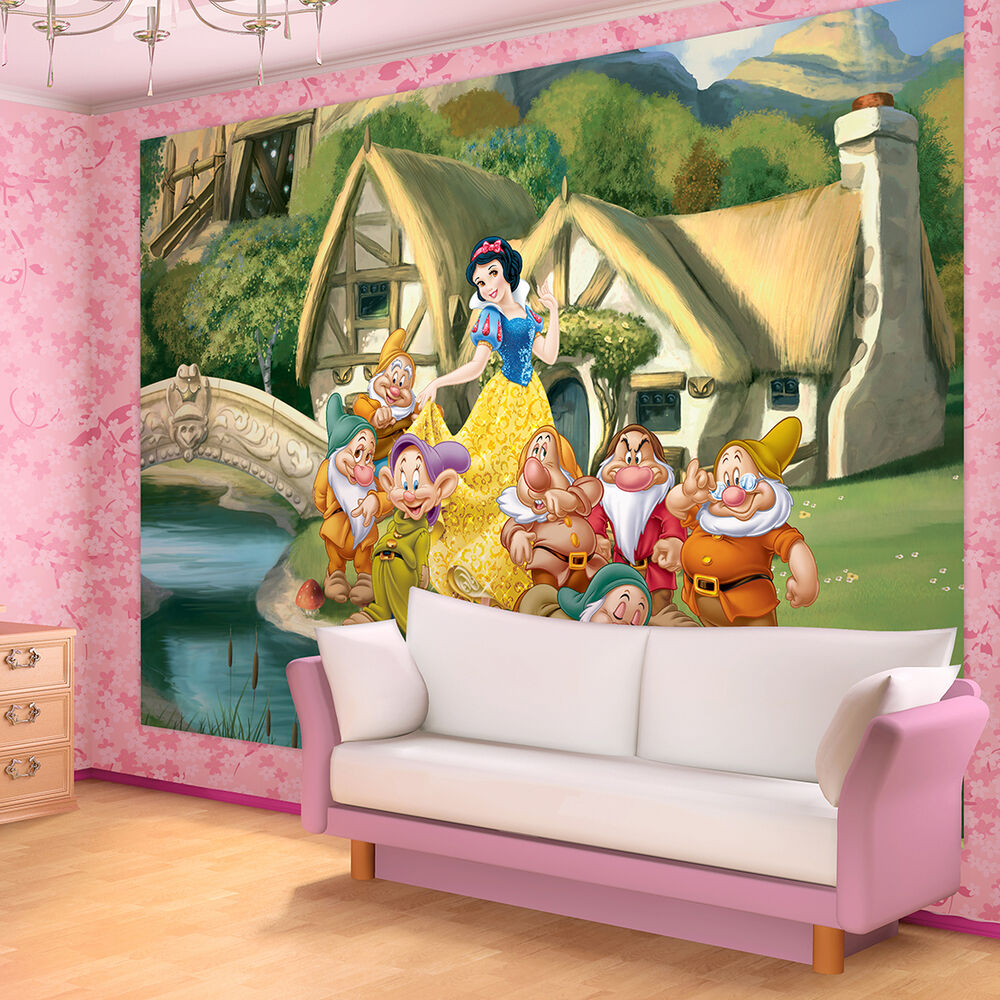 kinder fototapete fototapeten tapete tapeten poster disney schneewittchen 596 p4 ebay. Black Bedroom Furniture Sets. Home Design Ideas