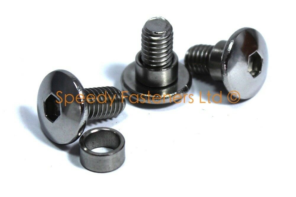 Stainless steel motorcycle fairing bolts spacers collars