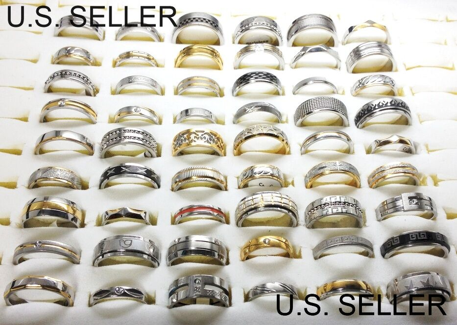 Closeout wholesale resale lot stainless steel rings high for Wholesale costume jewelry for resale
