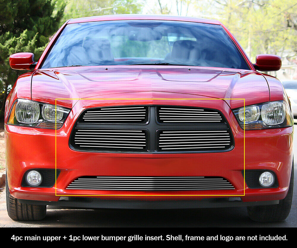 fits dodge charger billet grill insert combo 2011 2014 ebay. Black Bedroom Furniture Sets. Home Design Ideas