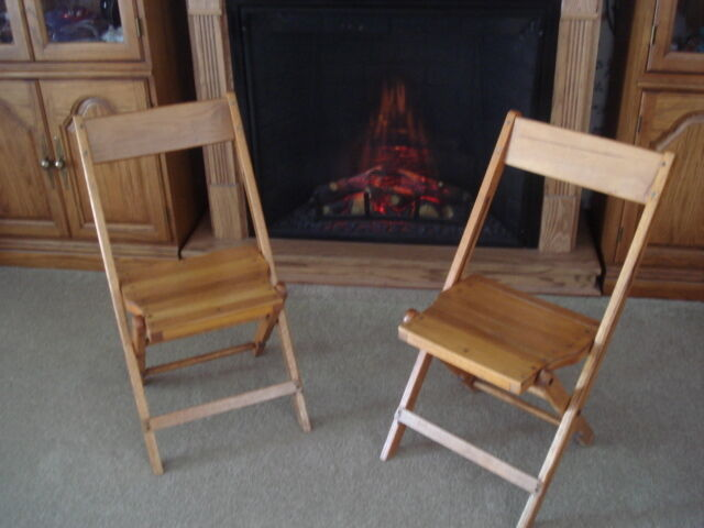 Old Vtg Snyder Chair Co Wood FOLDING CHAIR Furniture Funeral