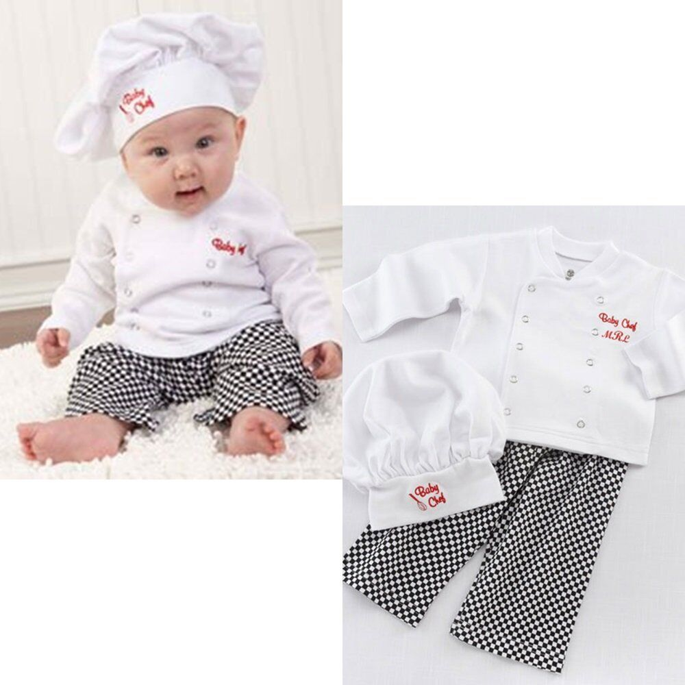 baby boy girl chef cook winter fancy dress costume outfit clothes set 0 1 2 ebay. Black Bedroom Furniture Sets. Home Design Ideas
