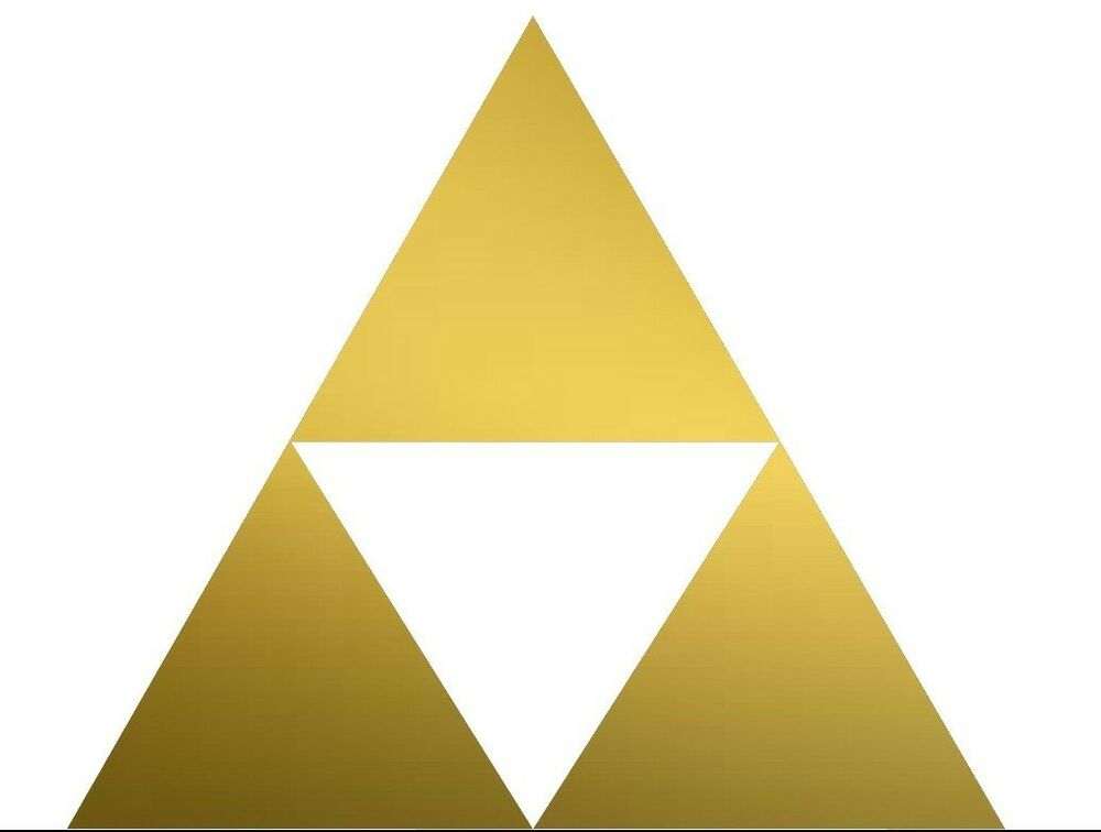 nintendo nes n64 legend of link gold triforce vinyl decal sticker emblem ebay