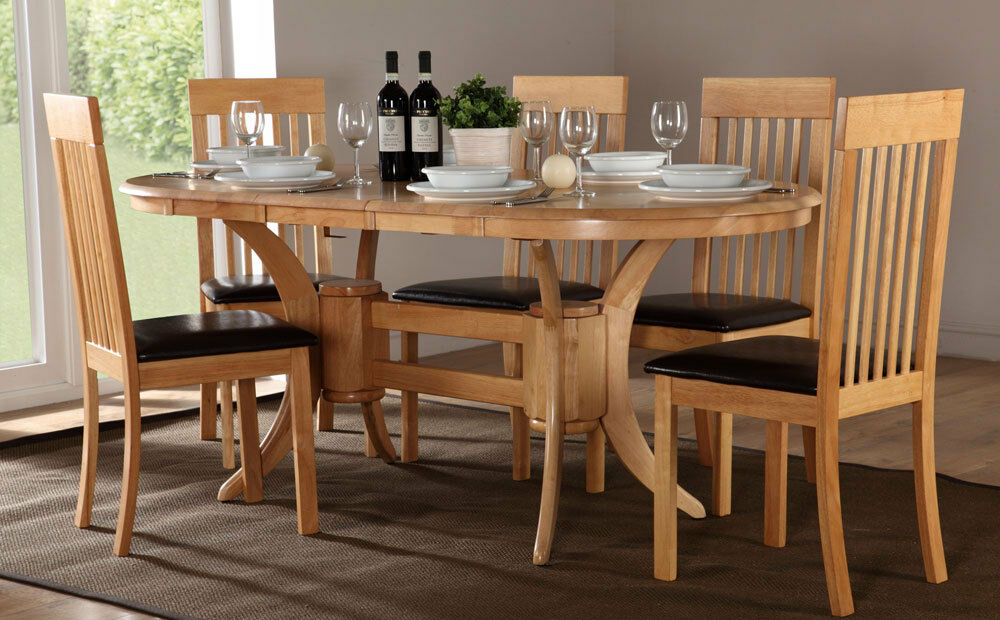 Townhouse Oxford Extending Oak Dining Table And 4 6 Chairs Set Brown
