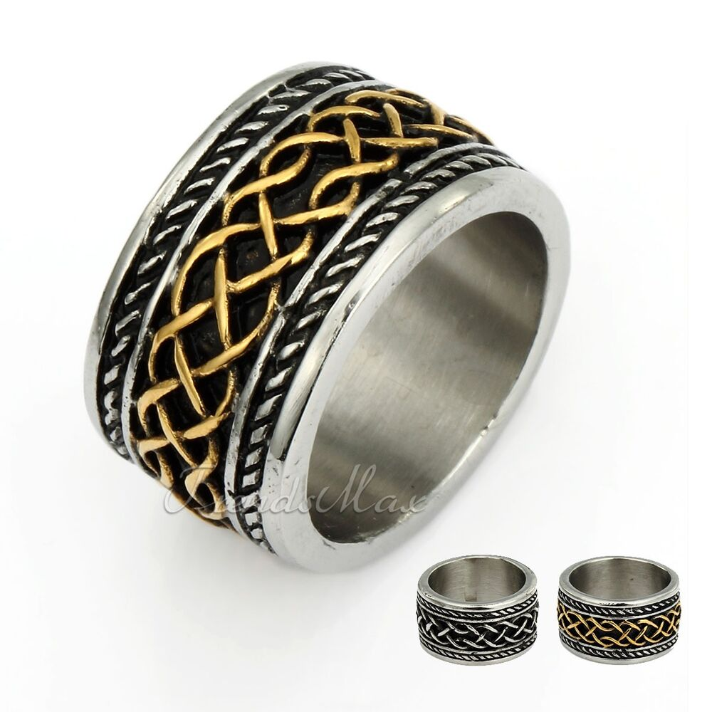 x gift celtic knot mens boys silver band 316l