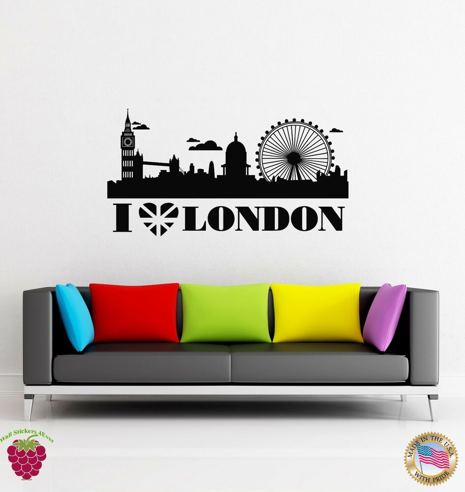 Wall stickers vinyl decal i love london england travel for England wall mural