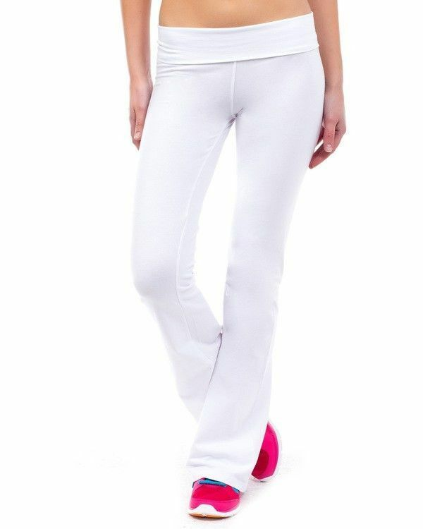 """WHITE YOGA PANTS FOR 5 Ft """" And Shorter PETITES"""