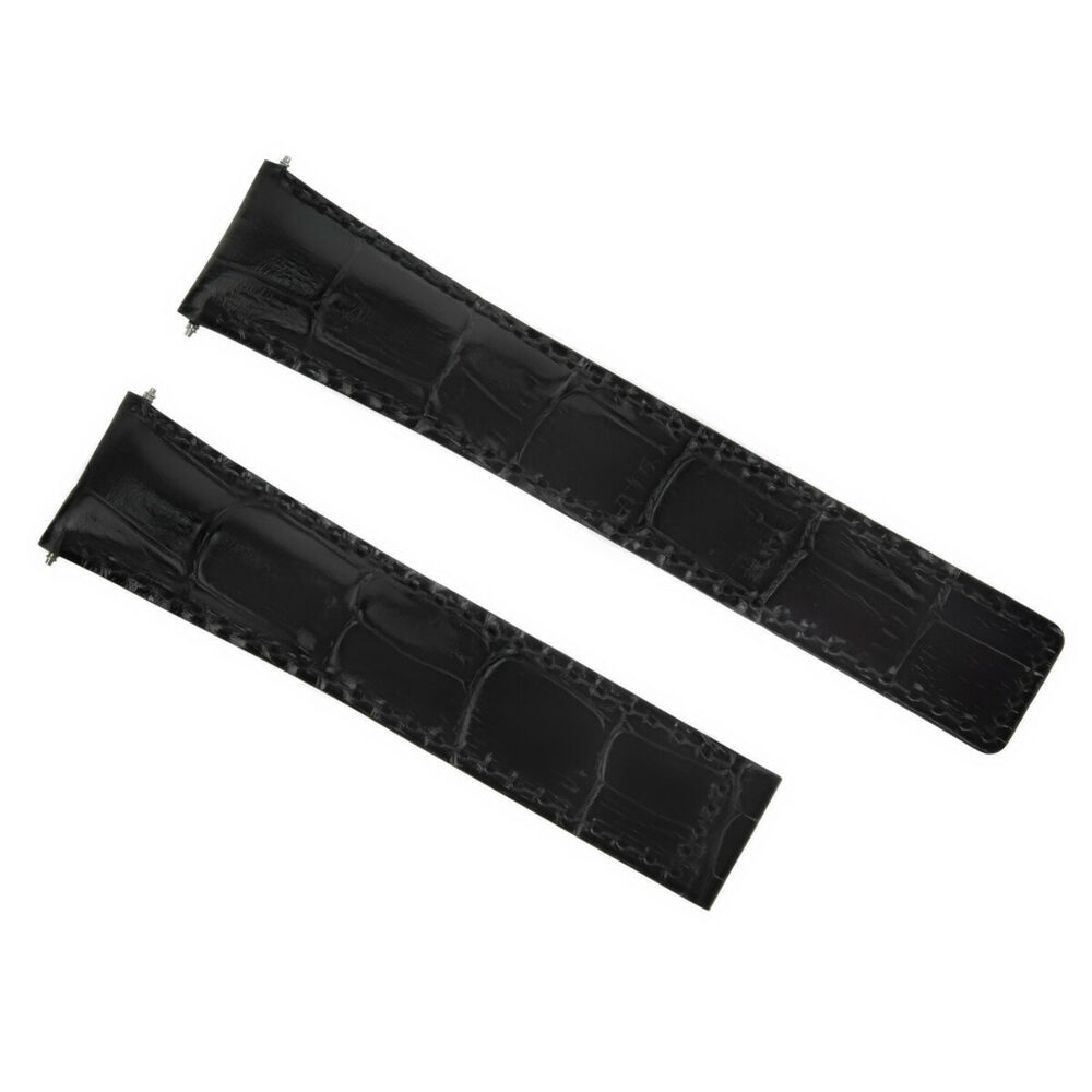 6f885dd6078 Details about 22MM LEATHER STRAP BAND BRACELET FOR DEPLOYMENT CLASP 22 18  TAG HEUER BLACK  3T