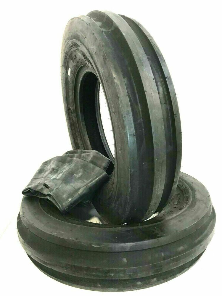 15 3 Tractor Wheels : Two new tri rib front tractor tires tubes