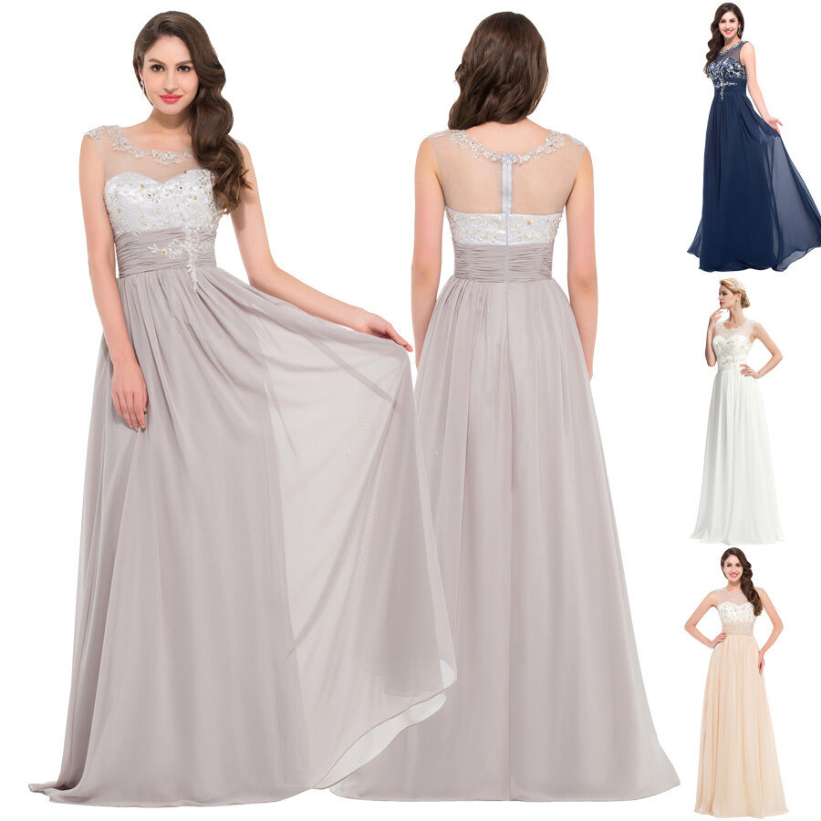 Plus size beaded long evening formal bridesmaid ball gown for Ebay wedding bridesmaid dresses