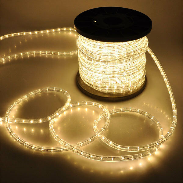 Thin Led String Lights : Warm White LED Rope 150ft 110V 2 Wire Flexible DIY Lighting Christmas Outdoor eBay