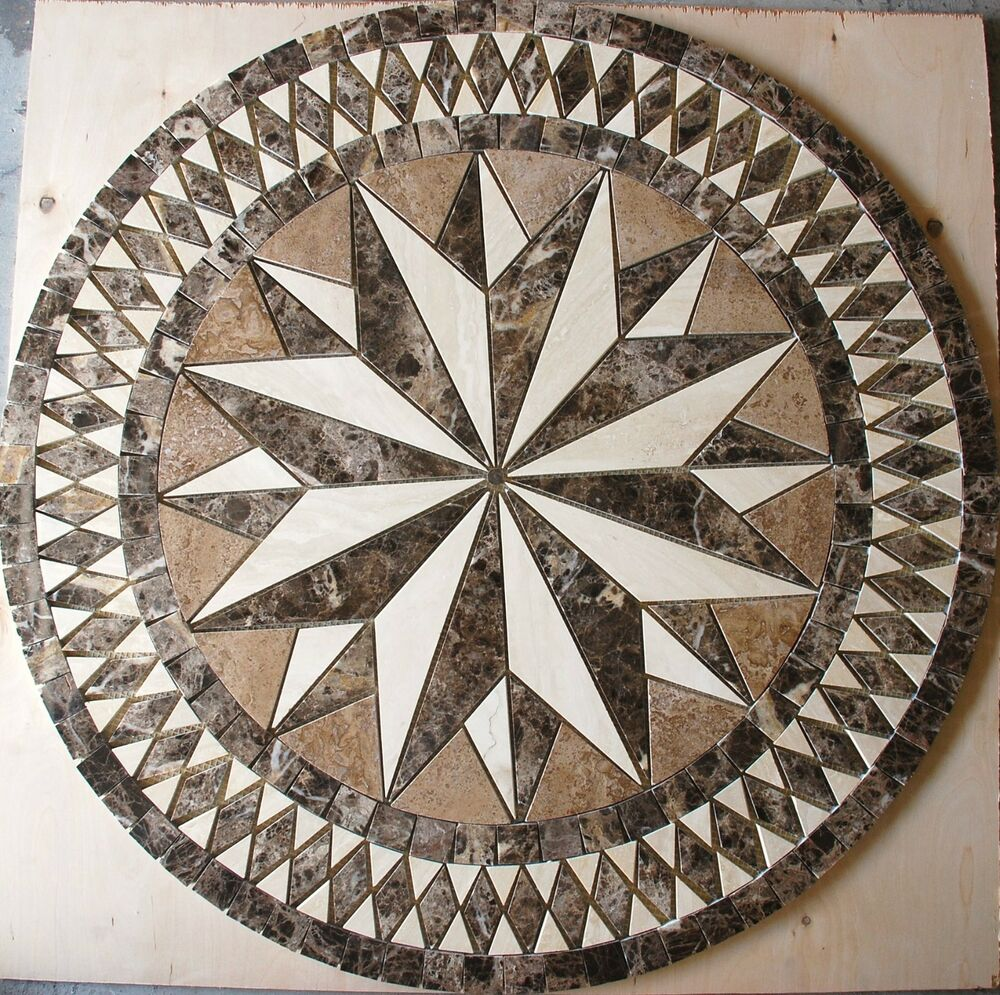 Marble Travertine Tile Medallion Design Stone 32 4l Ebay