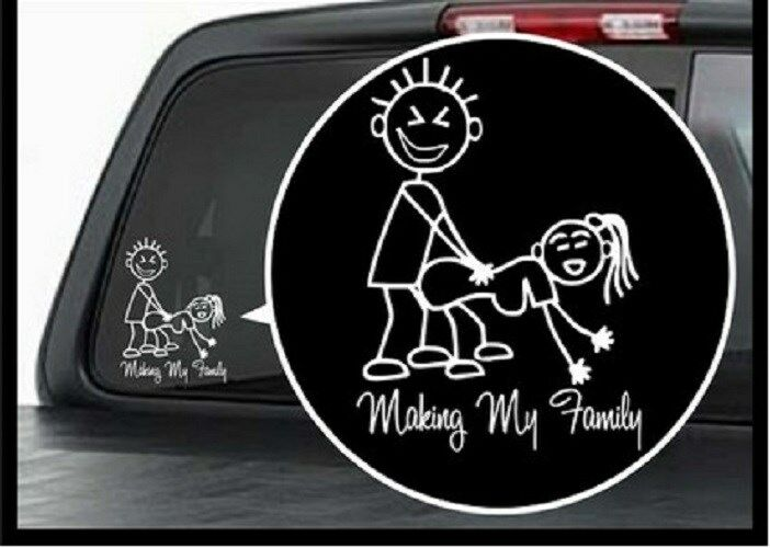 1 x car sticker my family sheet motorbike bike auto badge for Vinyl windows online