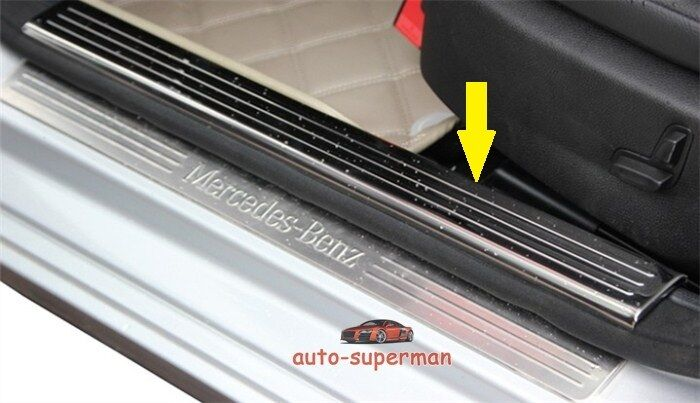 Door sill scuff plate guard mercedes benz c class w204 for Mercedes benz door sill