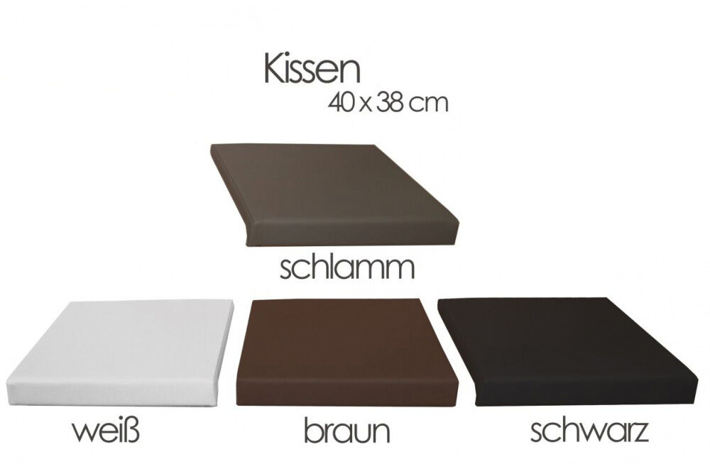 1 st ck sitzkissen klemmkissen kissen kunstleder 40x38 f r sitzbank bankkissen ebay. Black Bedroom Furniture Sets. Home Design Ideas