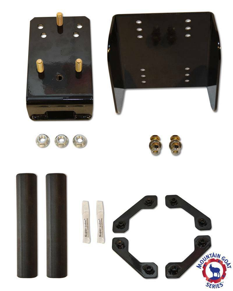 Oversize Spare Tire Relocation Mounting Bracket Package