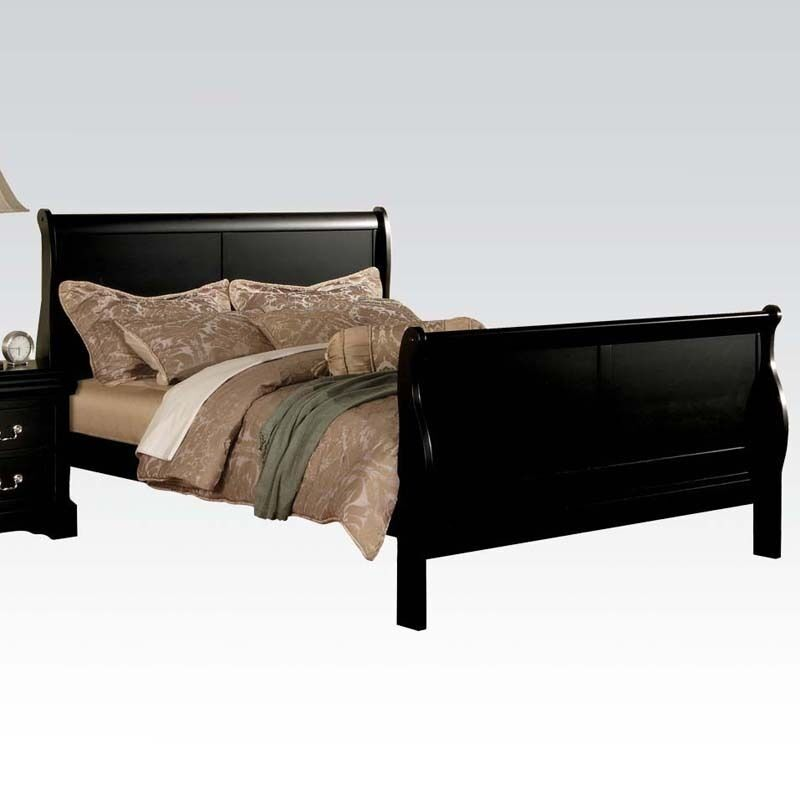 Black sleigh kd headboard sturdy wood twin full queen bed ebay