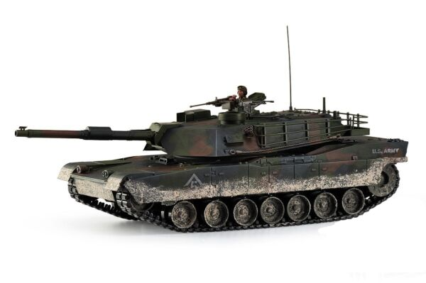 Large Scale RC M1A1 Abrams Tank Forest Camo Upgraded Premium Label Version - Hob