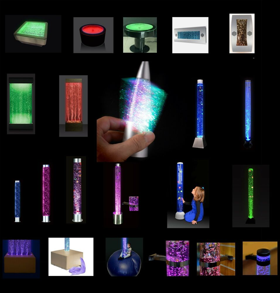 Extra Large Bubble Tube Amp Water Feature Colour Changing With Remote All Styles Ebay