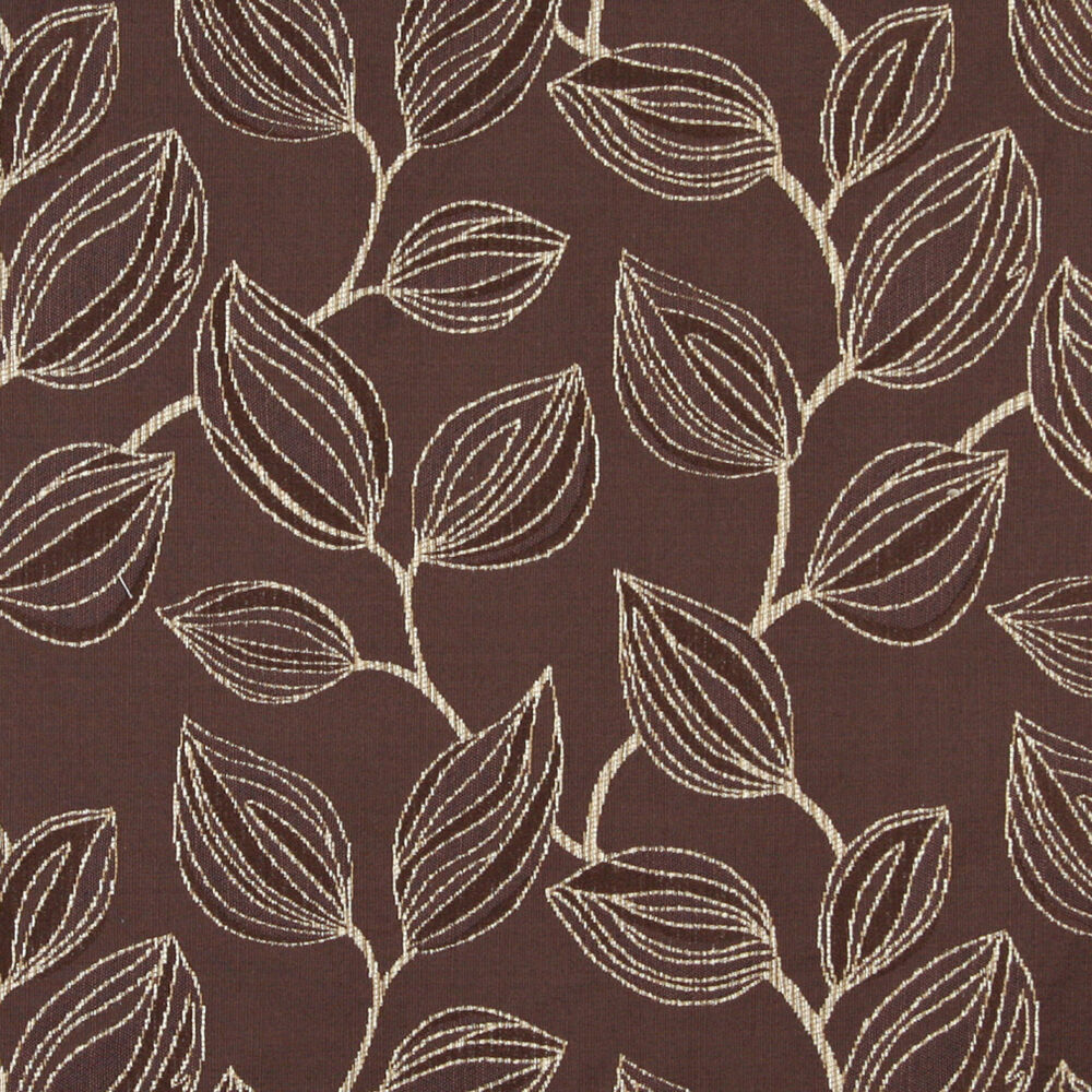 A0029a brown white large leaves contemporary upholstery for Upholstery fabric