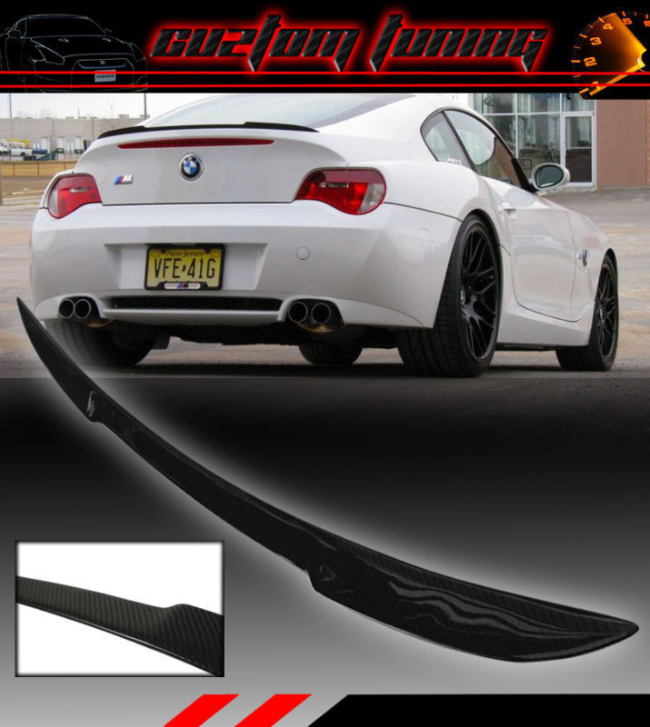 Blk Carbon Fiber Sport Trunk Lid Spoiler Wing For 03 08