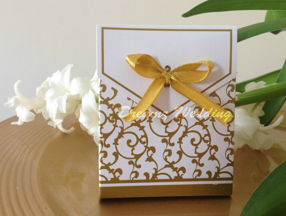 Wedding Gift Cake: 100 Gold Wedding Party Birthday Engagement Favor Sweet