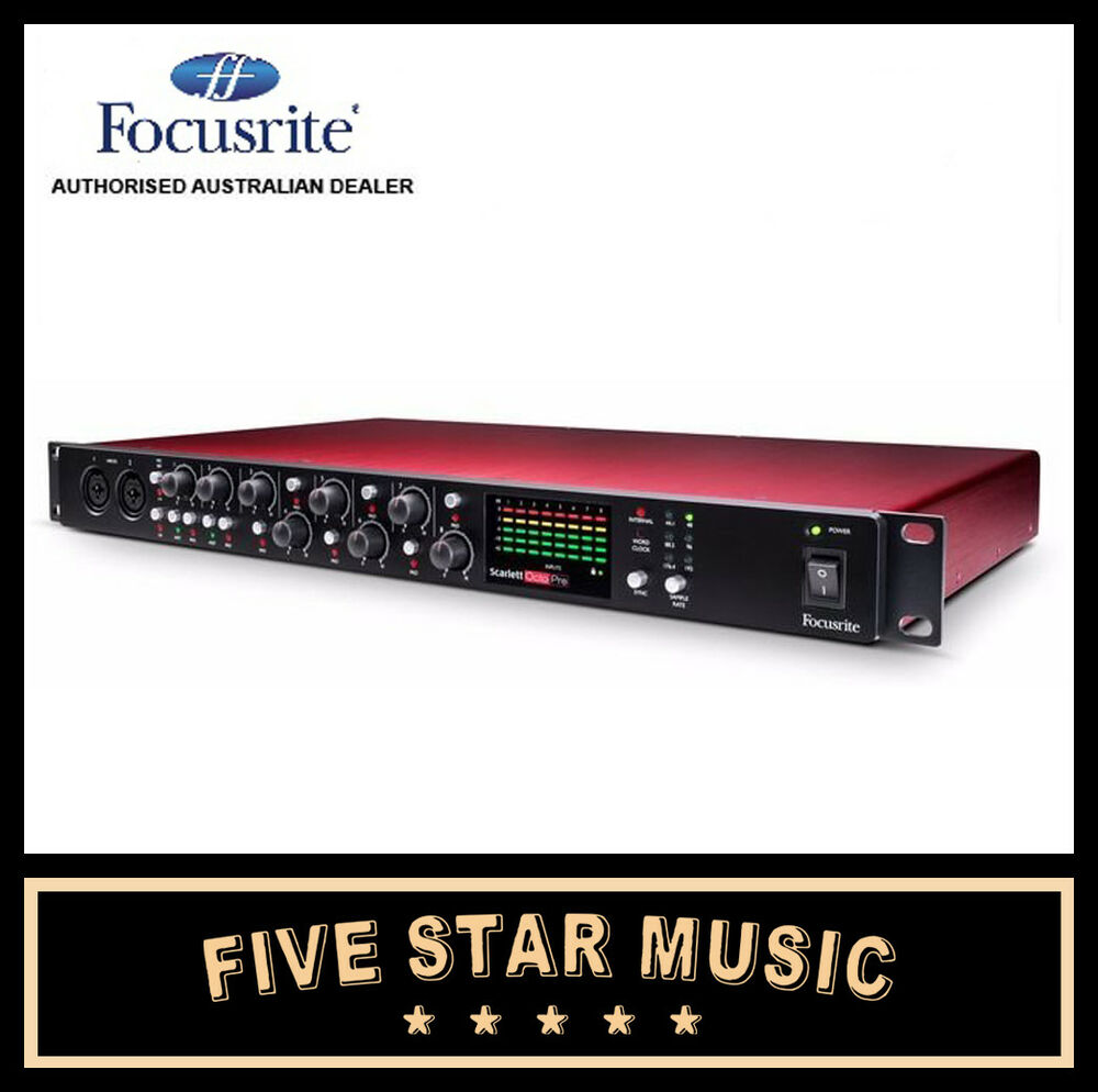 focusrite scarlett octopre 8 channel microphone preamp mic pre w adat new ebay. Black Bedroom Furniture Sets. Home Design Ideas