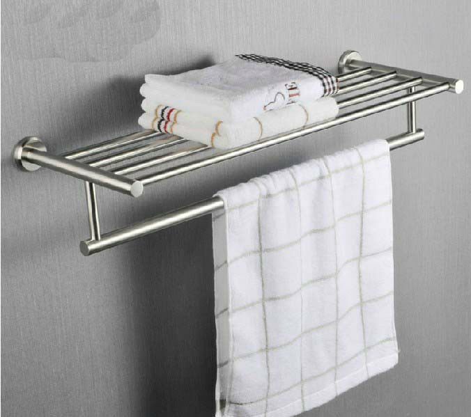 Brushed Nickel Luxury Hotel Wall Mounted Bathroom Towel