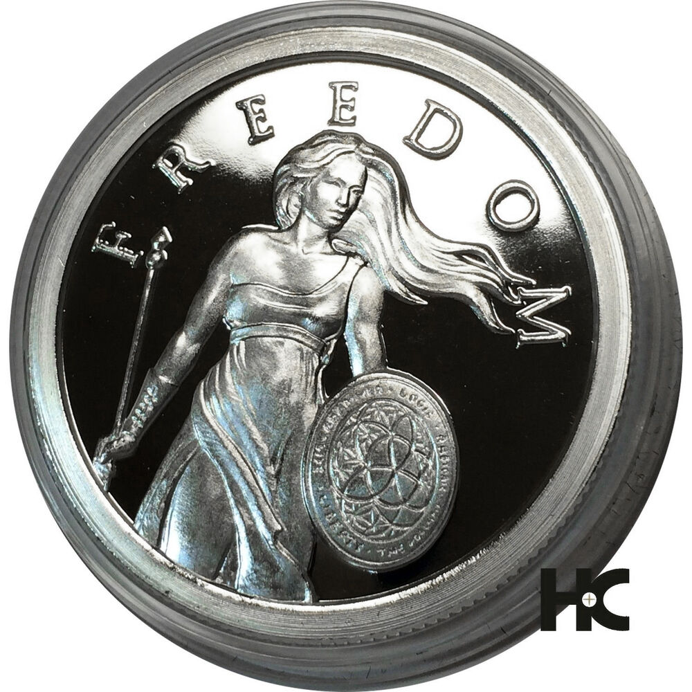 2013 Standing Freedom 1 Oz Proof Silver Bullet Silver
